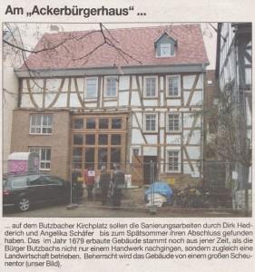 Butzbacher Zeitung vom 4. Januar 2013