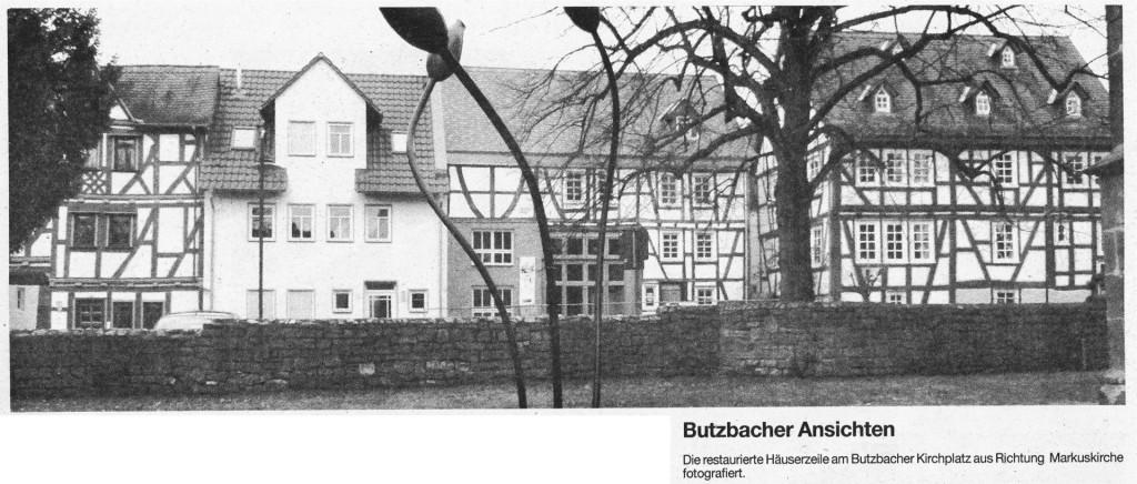 Butzbacher Ansichten... ... Die restaurierte Häuserzeile am Butzbacher Kirchplatz aus Richtung Markuskirche fotografiert.