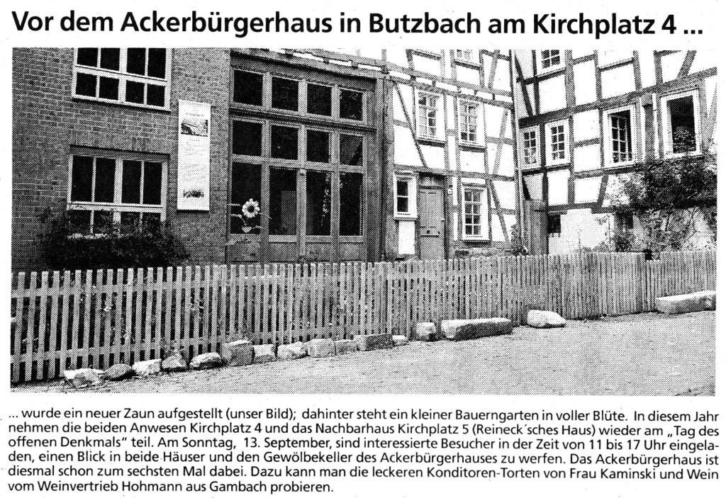 Butzbacher Zeitung vom 21. August 2015