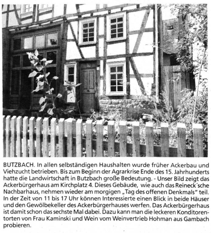 Butzbacher Zeitung vom 12. September 2015