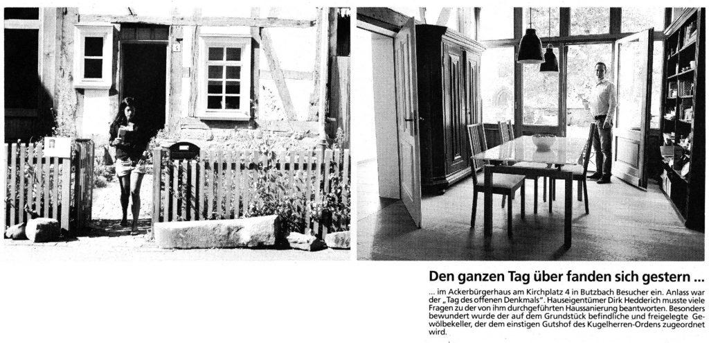 Butzbacher Zeitung vom 12. September 2016