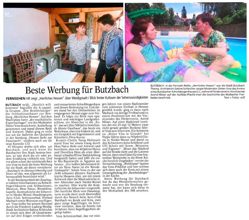 Butzbacher Zeitung vom 22. September 2016