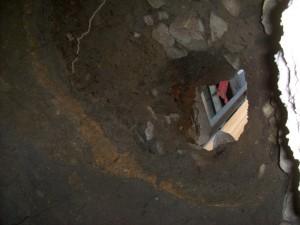 Das Loch - von unten