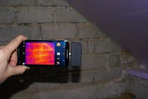 Flir One Android und Wärmeleck