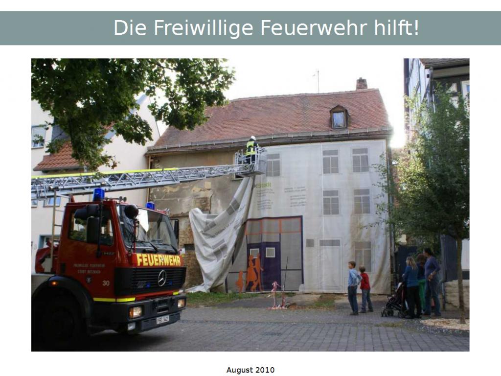 Die Freiwillige Feuerwehr hilft!