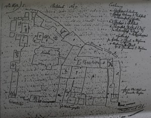 Plan vom Kirchplatz 1845