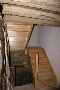 Treppe im Erdgeschoss im Bau