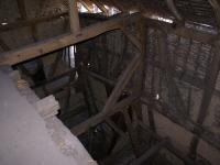 Blick vom Dachboden in die Scheune