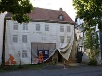 Haus vorm Planeabhängen
